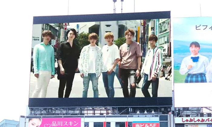 渋谷ビジョンにSHOW ROOMイケメンプロジェクト第2段のCMが放映されました!!